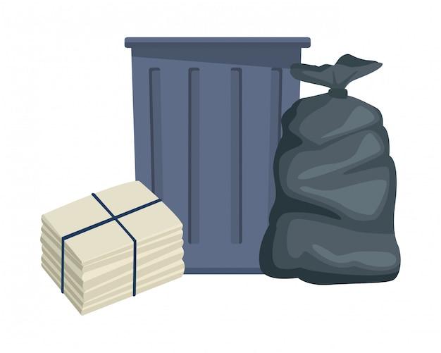 Fumetto dell'icona del cestino dell'immondizia