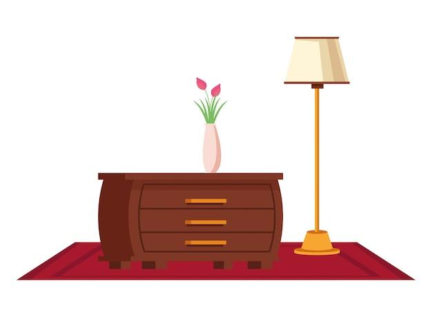 Fumetto dell'icona interna della casa della mobilia