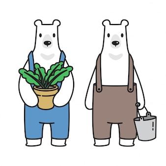 Fumetto dell'orso fumetto polare