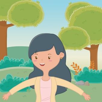 Fumetto della ragazza dell'adolescente