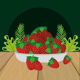 Fumetto delle fragole di frutta fresca