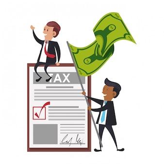 Fumetto di affari di tasse del governo statale