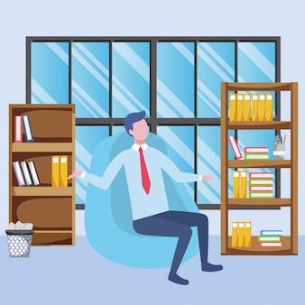 Fumetto di avatar uomo d'affari