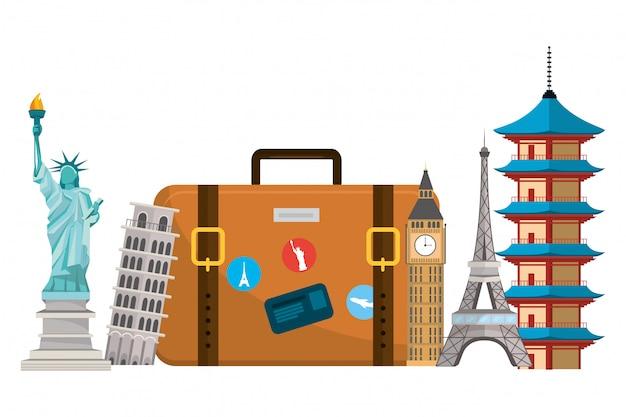 Fumetto di bagagli di viaggio