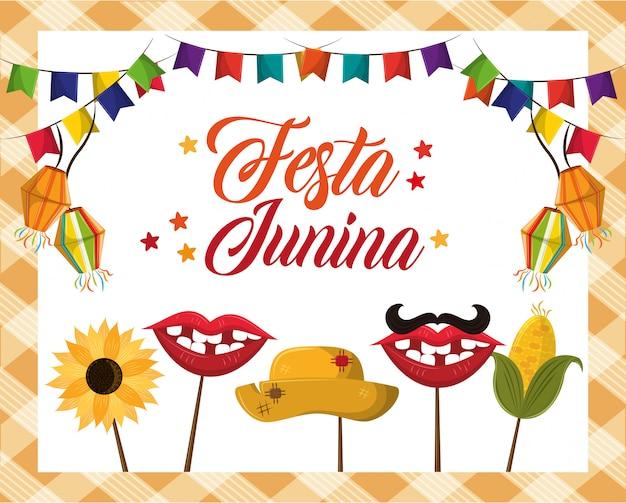 Fumetto di concetto di festa junina