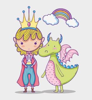 Fumetto di disegno della mano della piccola principessa del mondo magico