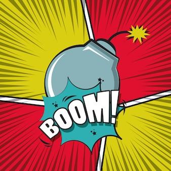 Fumetto di esplosione di fumetti pop art