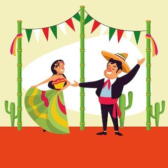 Fumetto di messicani cinco de mayo