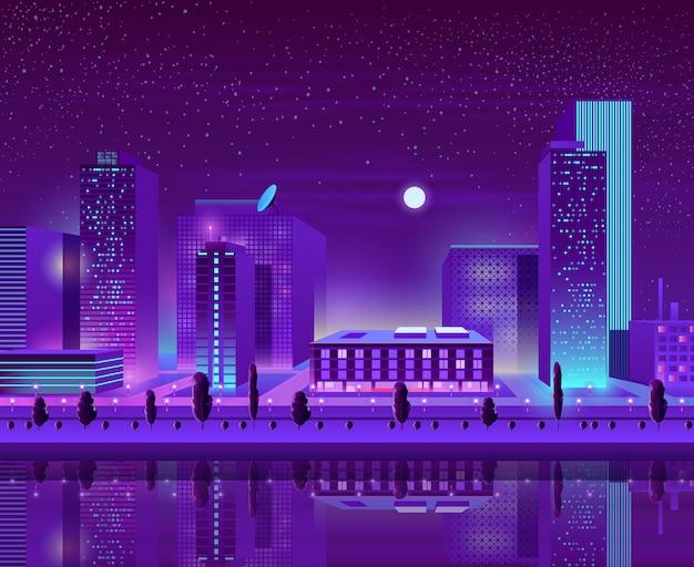 Fumetto di paesaggio urbano del centro città moderna