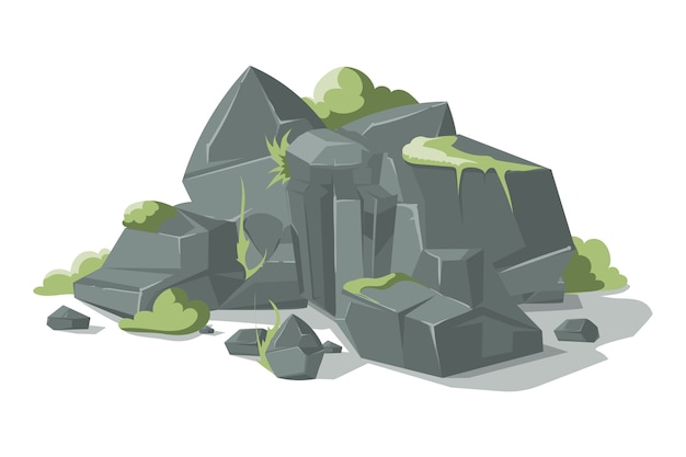 Fumetto di pietre e rocce grige