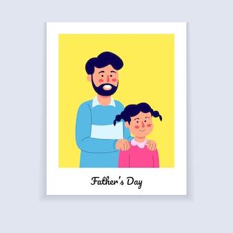 Fumetto di potrait della foto dell'illustrazione di giorno di padri