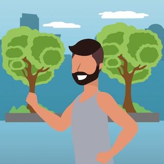 Fumetto di sport fitness train
