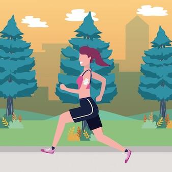 Fumetto di treno sport fitness