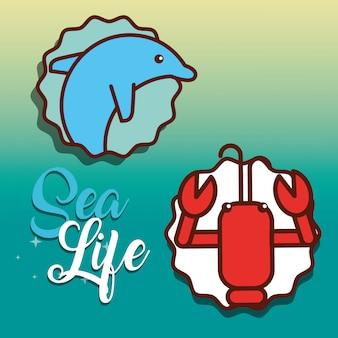 Fumetto di vita di mare