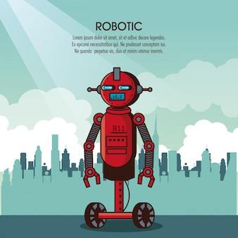 Fumetto infografica robotica
