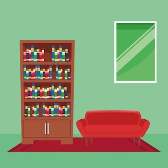 Fumetto interno dell'icona della mobilia