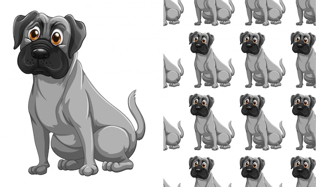 Fumetto isolato del modello animale del cane