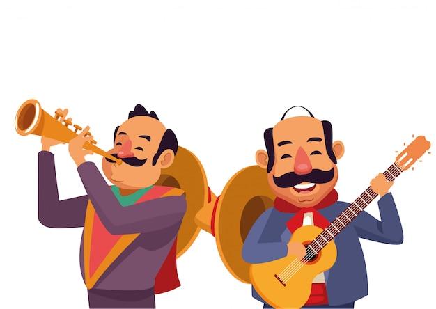 Fumetto messicano dell'icona della cultura tradizionale