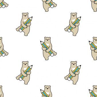 Fumetto senza cuciture della matita dell'orso