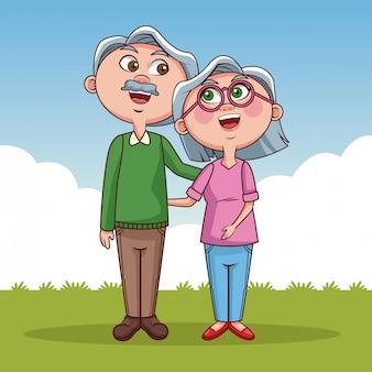 Fumetto sveglio dei nonni