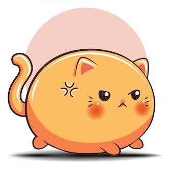 Fumetto sveglio del gatto., concetto del negozio di animali.