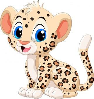 Fumetto sveglio del leopardo del bambino