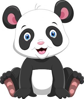 Fumetto sveglio del panda del bambino