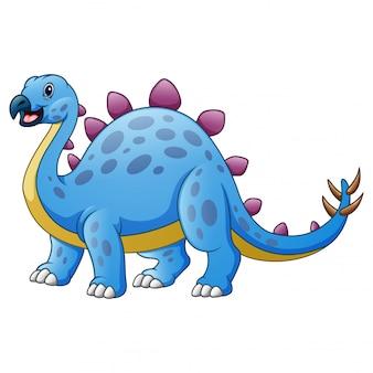 Fumetto sveglio di stegosauro isolato su bianco