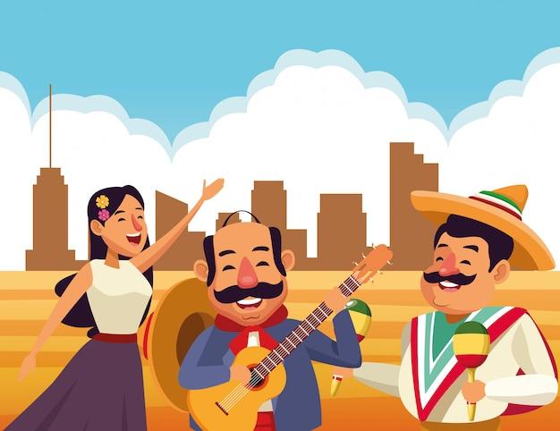 Fumetto tradizionale messicano dell'icona della cultura