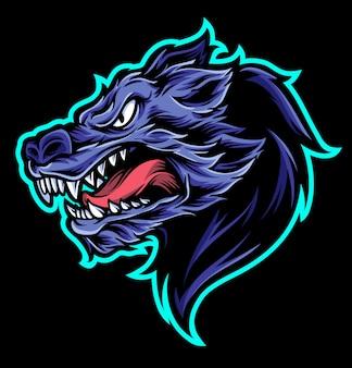 Fumetto vettoriale di lupo