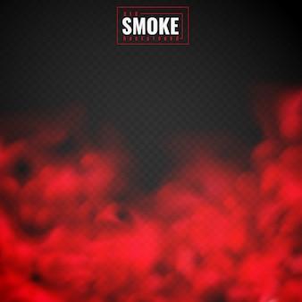 Fumo rosso sullo sfondo