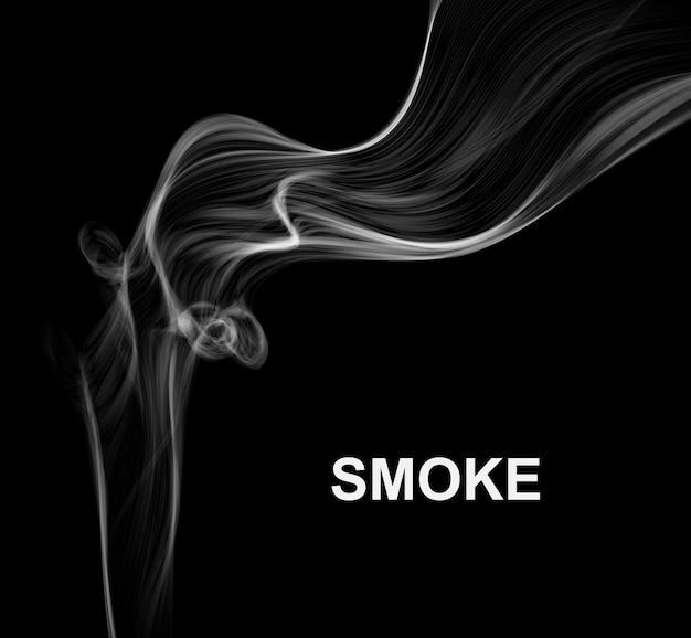 Fumo su sfondo nero vettoriale.