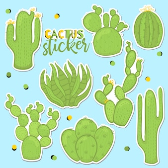 Fun patch cactus set per adesivi