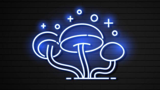 Funghi in stile effetto neon.