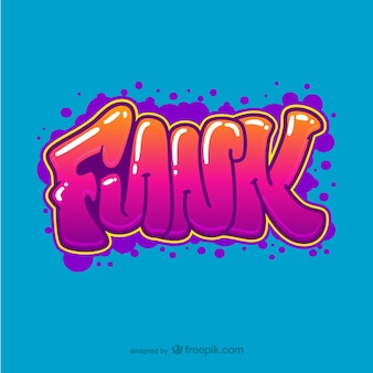 Funk graffiti vettore