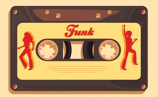 Funk music cassette