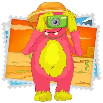Funny monster. fotografo turistico