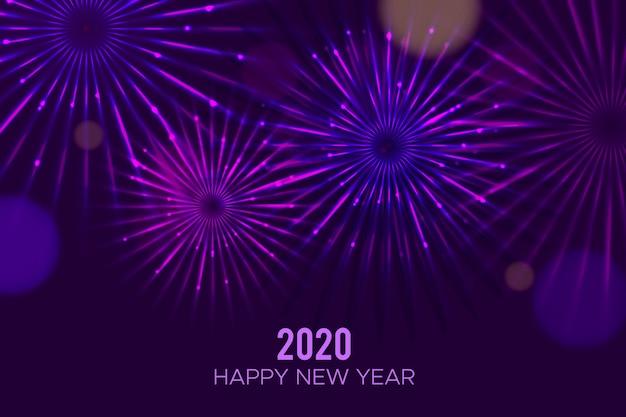 Fuochi d'artificio anno nuovo sfondo 2020