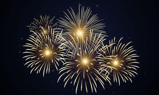 Fuochi d'artificio di progettazione del fondo buon anno 2019