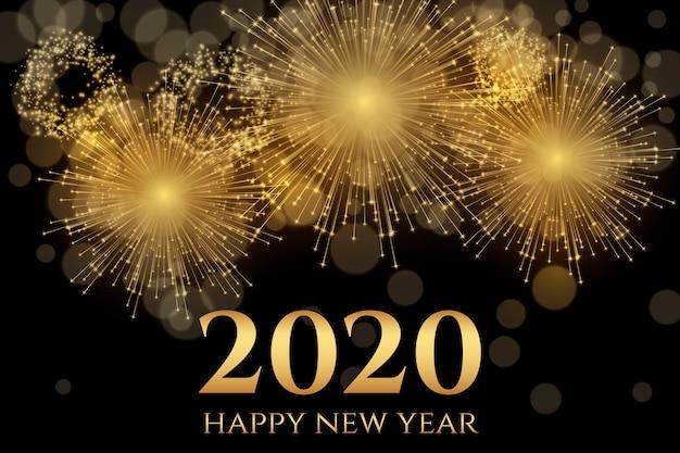 Fuochi d'artificio nuovo anno 2020