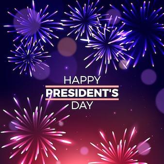 Fuochi d'artificio realistici per la festa del presidente con scritte