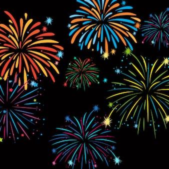 Fuochi d'artificio sul modello di sfondo
