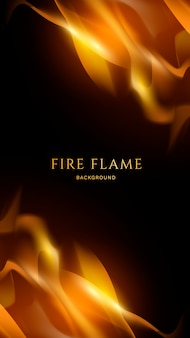 Fuoco e fiamme sullo sfondo