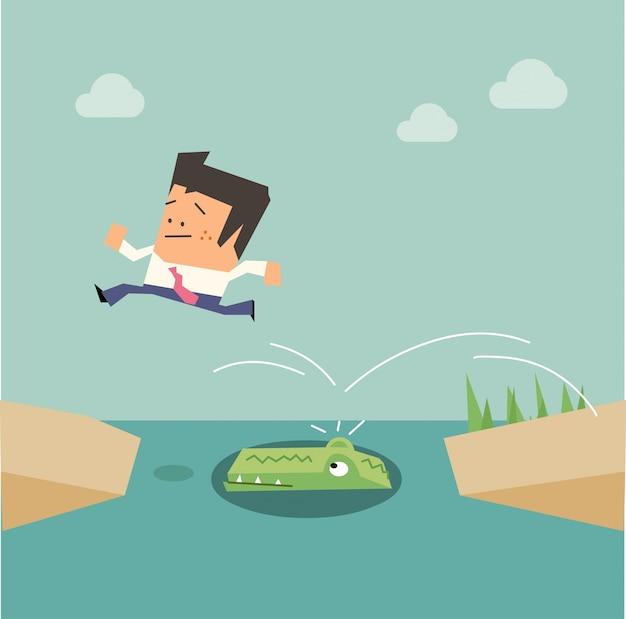 Fuori saltare sfida croc