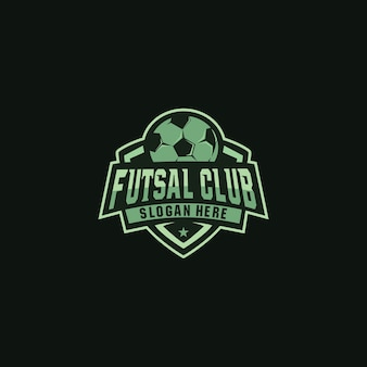 Futsal club logo design distintivo