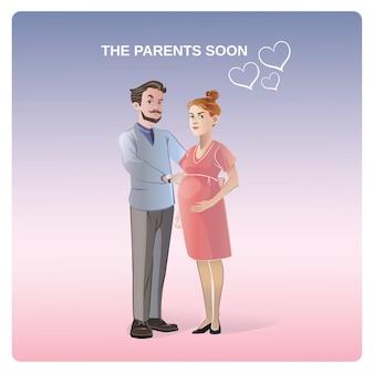Futuri genitori concetto