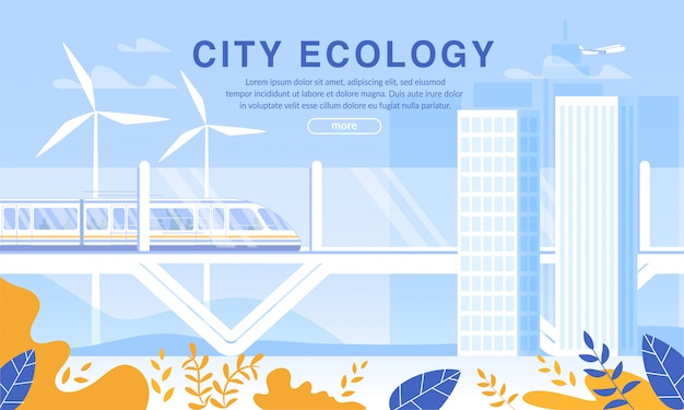 Futuristic city ecology environmental protection