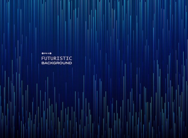 Futuristico full frame del movimento scientifico in pendenza linea blu modello
