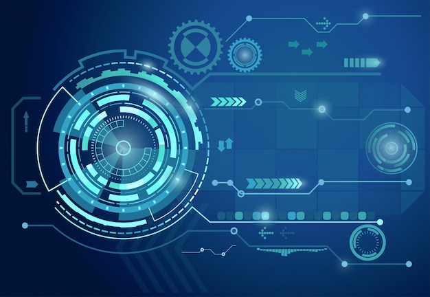 Futuristico sfondo blu digitale