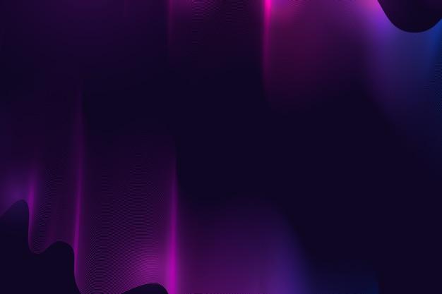 Futuristico sfondo ondulato scuro
